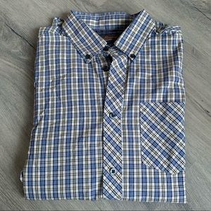 Ben Sherman Cotton Plaid Button Down Shirt